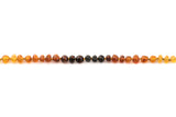 Adult amber anklet raw rainbow