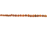 Childrens amber anklet raw cognac