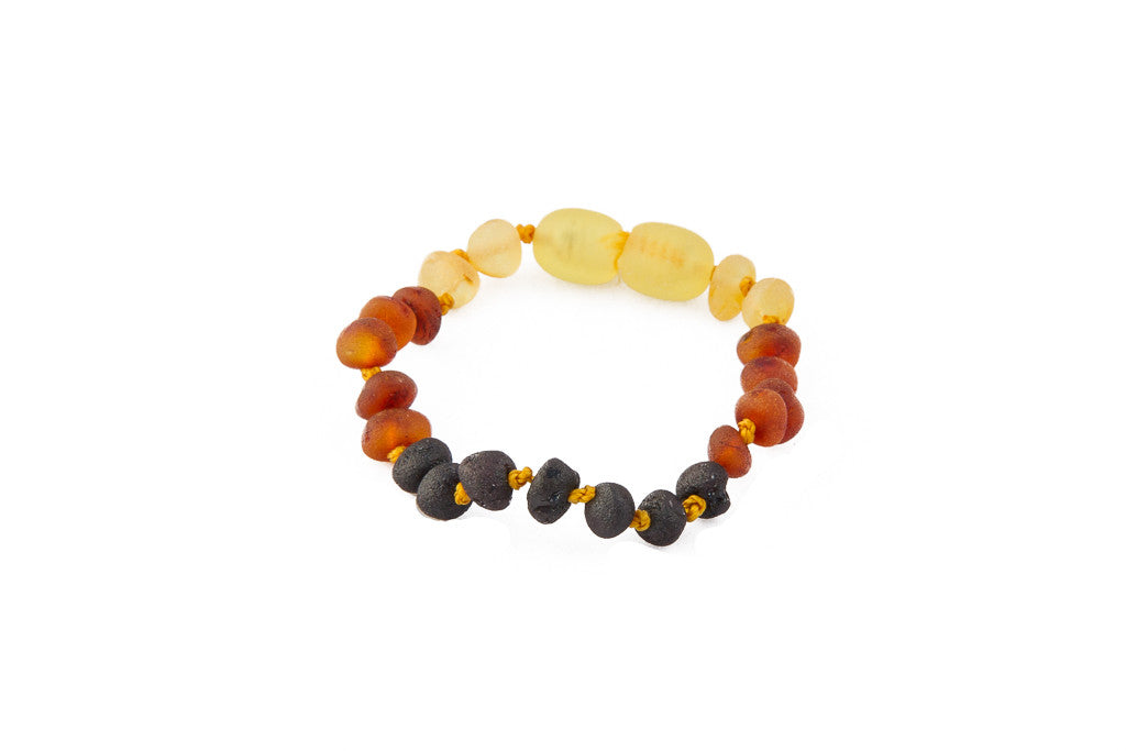 raw rainbow baltic amber bracelet
