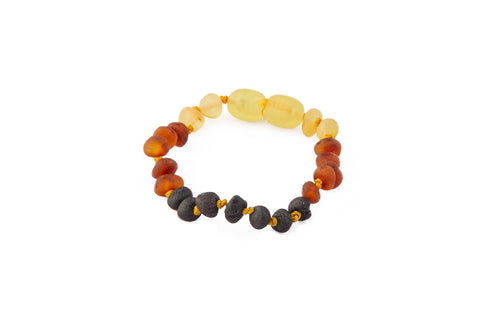 Childrens Amber Bracelet - Raw Rainbow Baroque