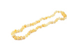 raw butter amber teething necklace