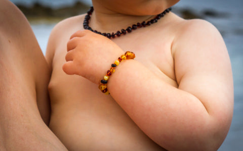 Childrens Amber Bracelet - Multicoloured Baroque