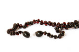 Amber teething necklace cherry