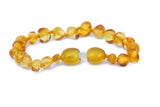Amber teething bracelet lemon
