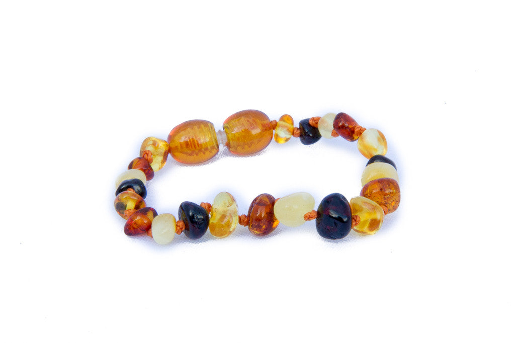 amber teething bracelet multicolour