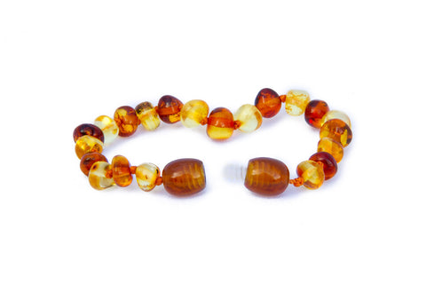 Childrens Amber Bracelet - Lemon and Cognac Baroque