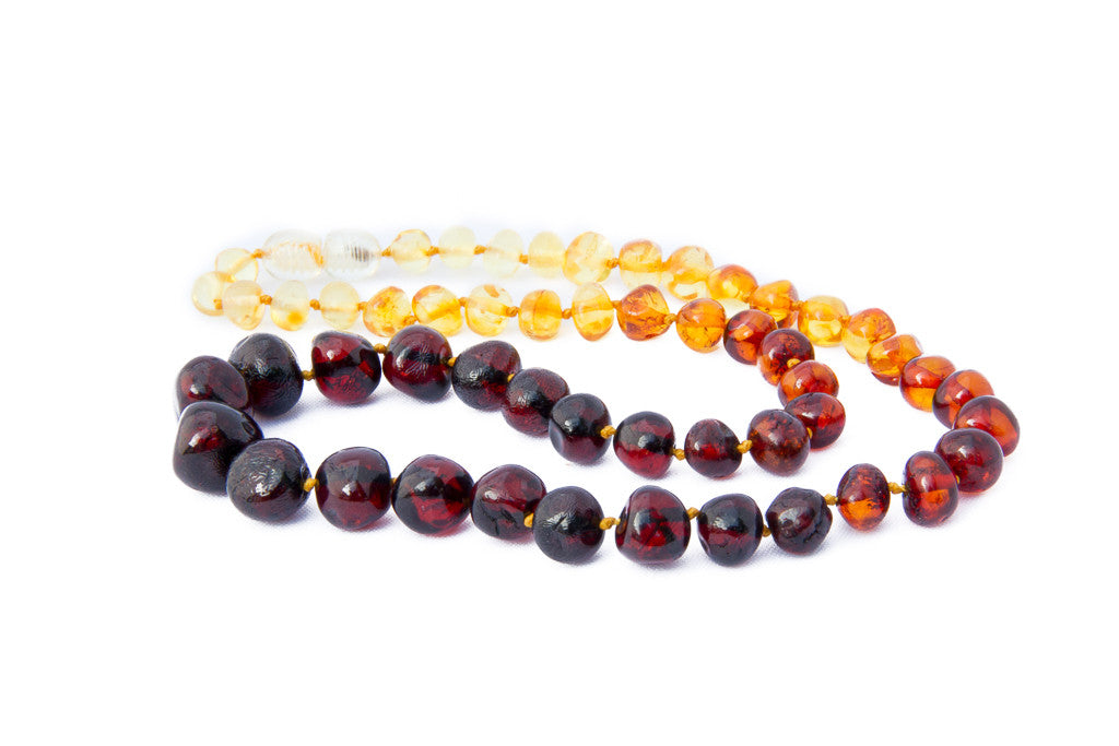 Adult Amber teething necklace rainbow