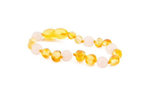 Childrens Amber Necklace - MOTHER OF PEARL