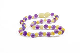 Childrens Amber Necklace - PURPLE SWEET PEA