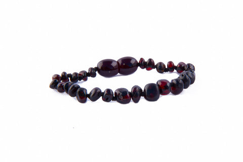 Childrens Amber Bracelet - Raw Cherry Baroque