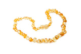 amber teething necklace lemon
