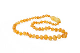 Amber teething necklace raw lemon