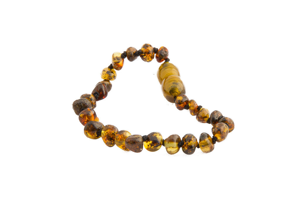 light green amber bracelet
