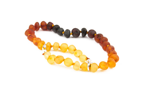 Childrens Amber Necklace - FORGET-ME-NOT