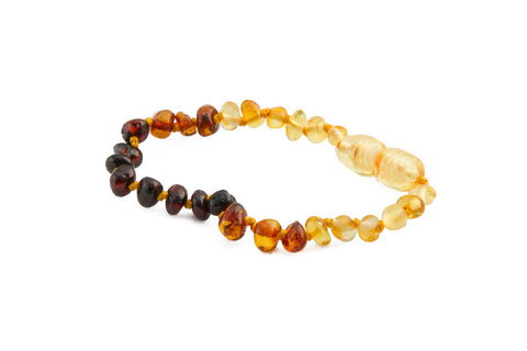 Childrens Amber Bracelet - Rainbow Baroque