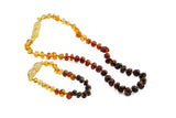 rainbow - Amber jewellery set