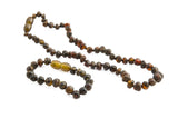 dark green - amber jewellery set