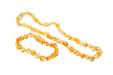 lemon - amber jewellery set