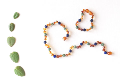 Childrens Amber Teething Necklace - COSMOS