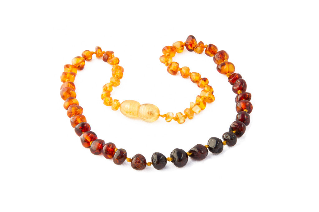 Childrens Amber Teething Necklace - Rainbow Baroque