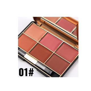 Beauty Box NZ 6 Colours Retro Make Up Blush Palette