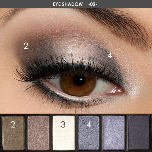 Beauty Box NZ Smokey Eye 6 Colour Eyeshadow Palette Makeup Kit #2