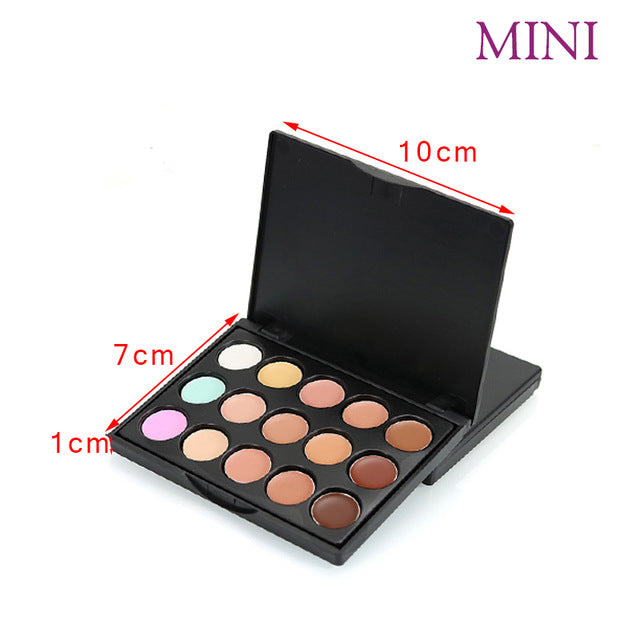 Beauty Box NZ 15 Colours Cream Base Concealer and Contour Palette