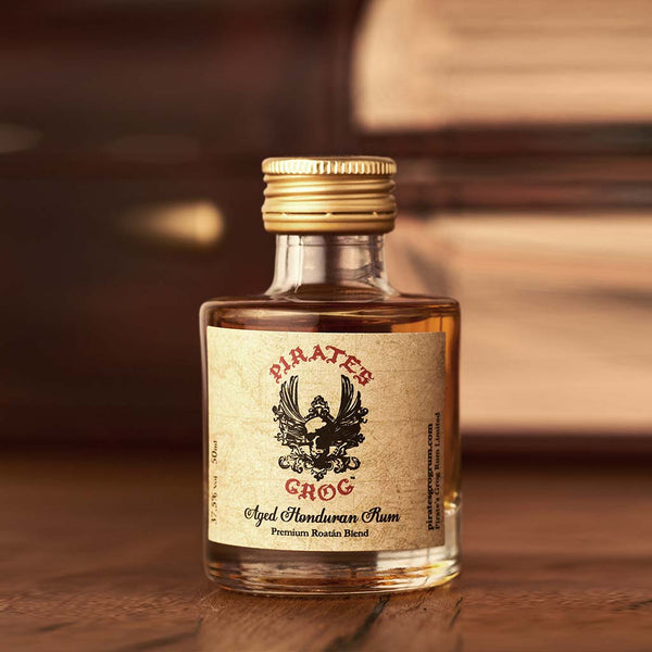 Pirate's Grog Five Year Aged Rum Miniatures<br>(Case of 12) - Pirate's Grog Rum