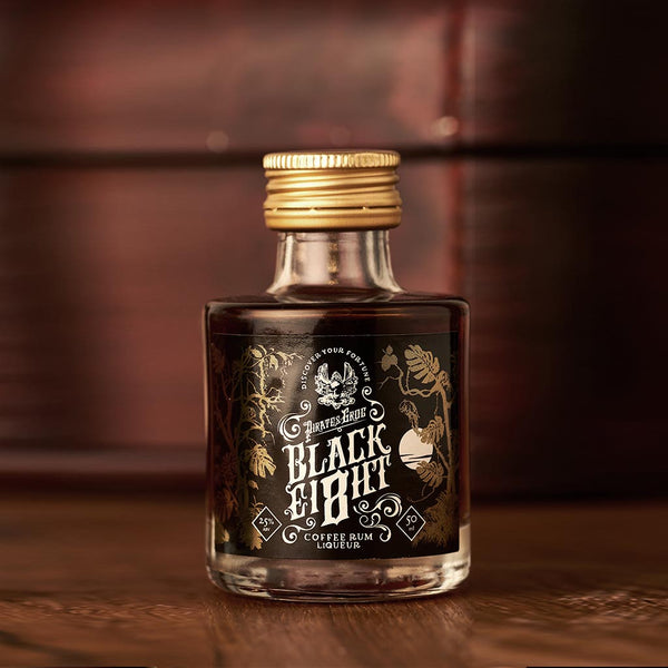 Pirate's Grog Black Ei8ht Coffee Rum Miniatures<br>(Case of 12)