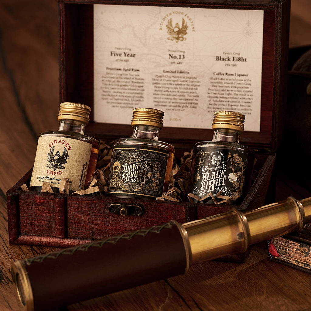 Pirate's Grog Rum Miniatures Gift Set<br>(Case of 8) - Pirate's Grog Rum