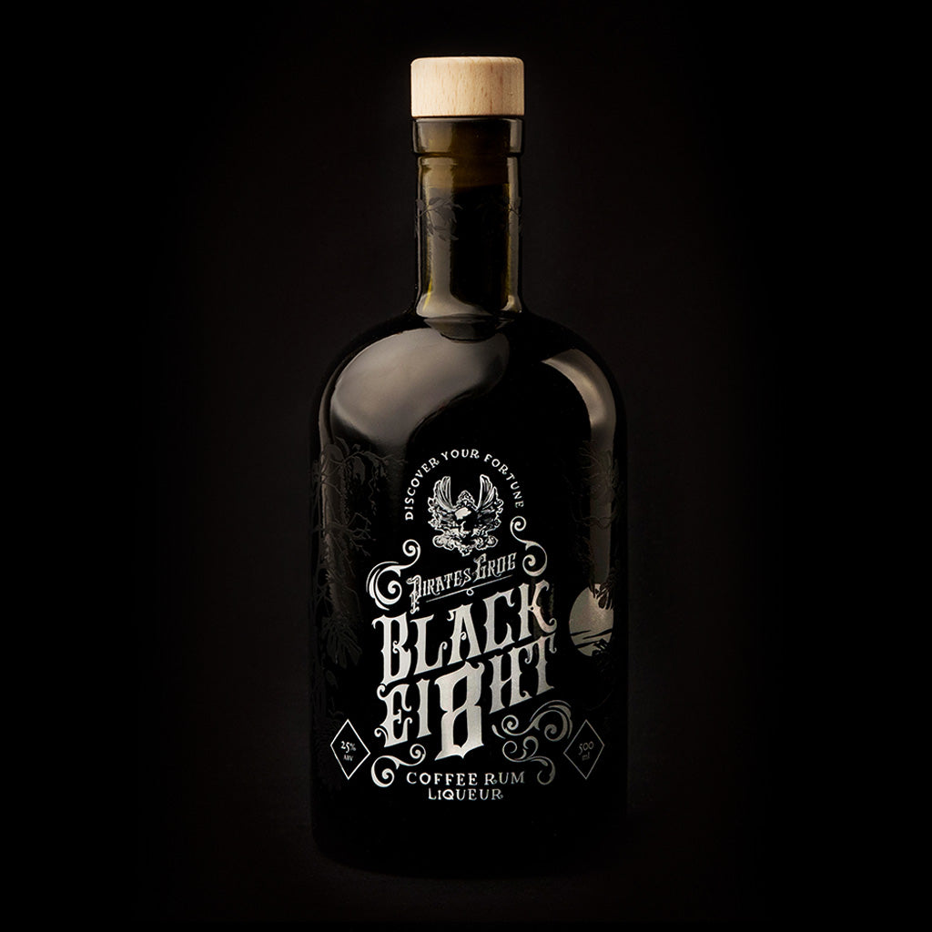 Pirate's Grog Black Ei8ht Coffee Rum<br>(Case of 6)