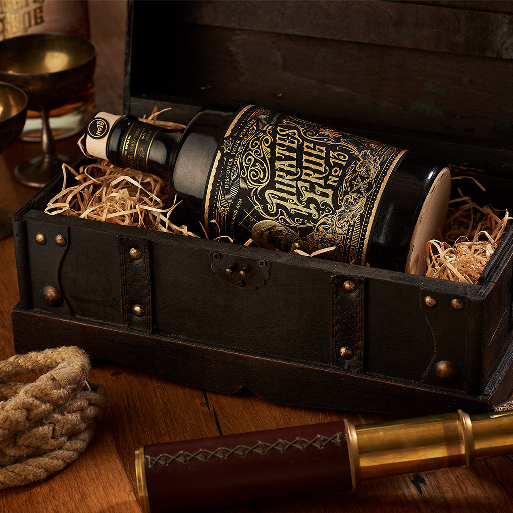 Pirate's Grog No.13 Gift Chest<br>(Case of 4) - Pirate's Grog Rum