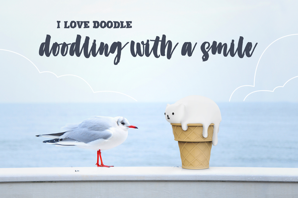 Doodling with a Smile - I Love Doodle