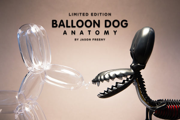 Balloon Dog Anatomy by Jason Freeny (Metallic Black)