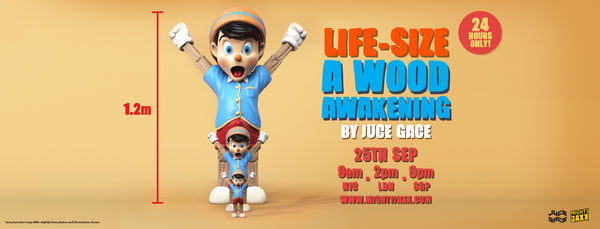 Life-size A Wood Awakening by Juce Gace Release Banner