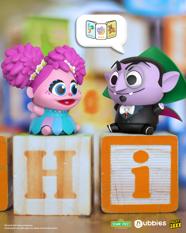 count von count and abby from Nubbies: sesame street