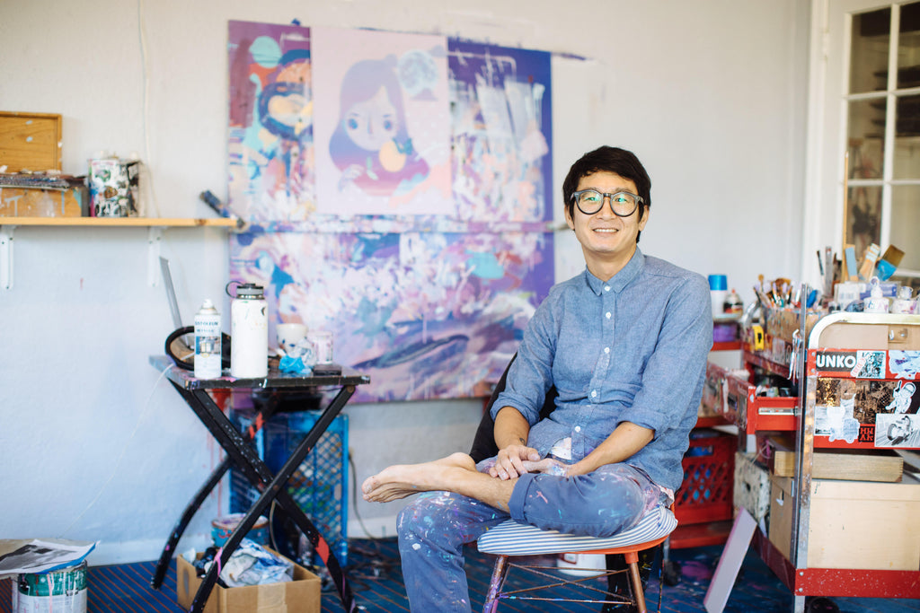 yoskay in his studio
