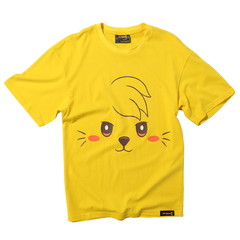 Cat Quest Cat Portrait Tee in Yellow