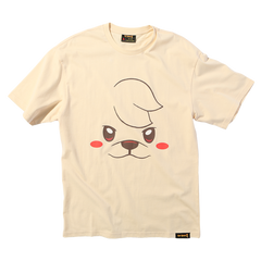 Cat Quest Dog Portrait Tee in Cream