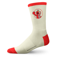 Cream/Red Elmo Sock