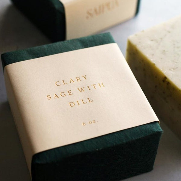 saipua soap | clary sage with dill