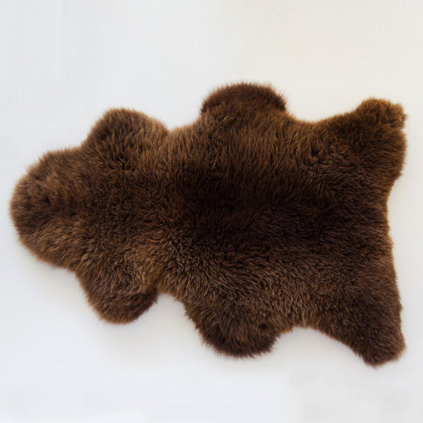 natural black sheepskin