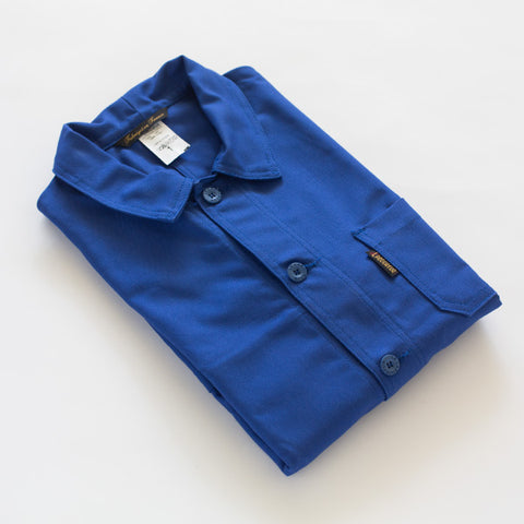 le laboureur french workers jacket | bugatti blue