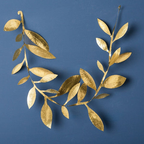 brass leaf garland