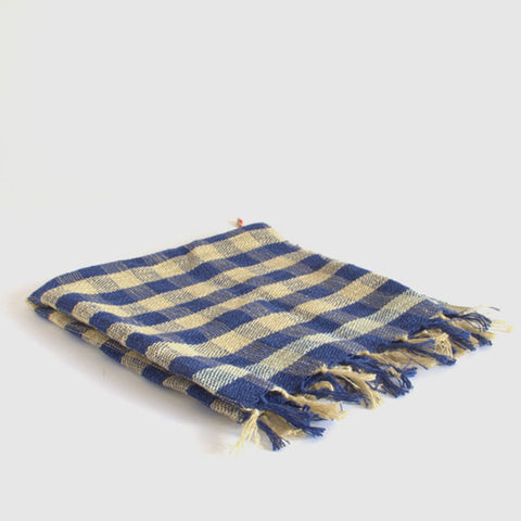 kerchief | custard & navy gingham