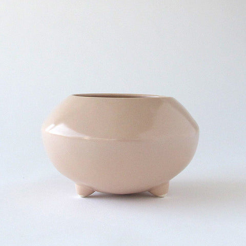 gidon bing small ceramic tripod pot | soft pink