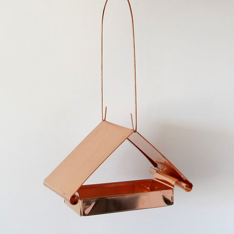 copper pediment bird feeder