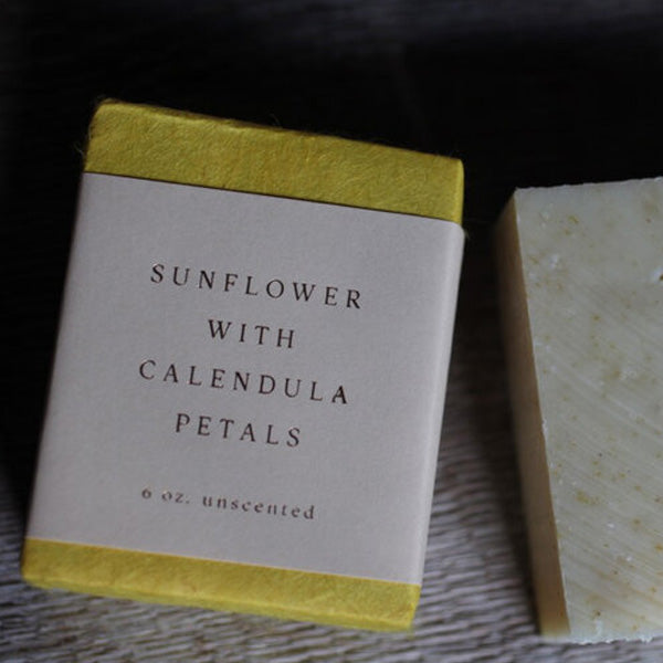 saipua soap | sunflower with calendula petals - unscented
