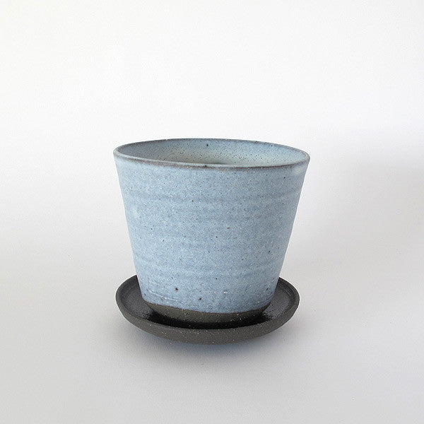 japanese ceramic pot | light blue