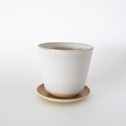 japanese ceramic pot | white